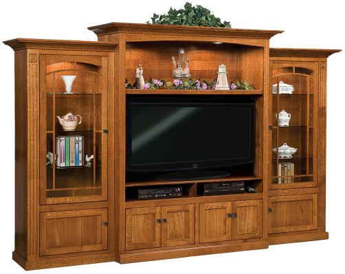 Ridgecrest 3 piece media wall unit countryside amish for Ridgecrest storage units
