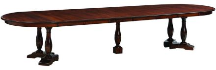 Queen anne dining tables countryside amish furniture for 144 dining table