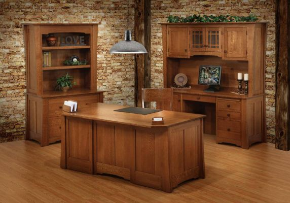 Dayton Lateral File With Bookcase Countryside Amish Furniture
