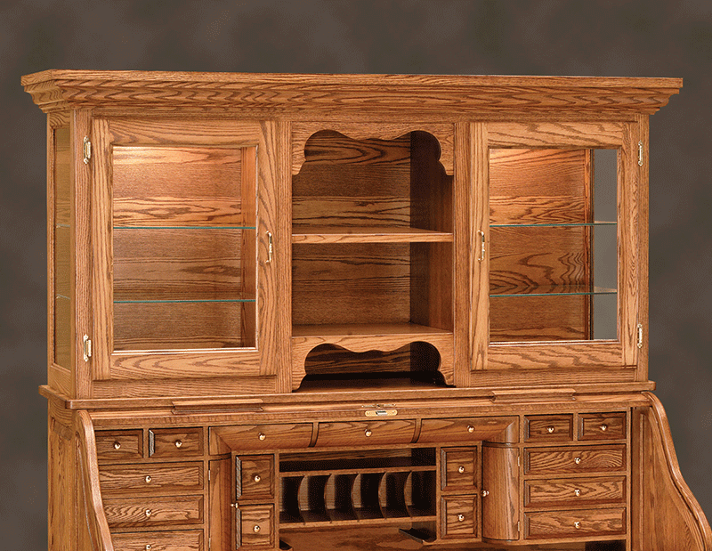 Librarian S Roll Top Desk With Hutch