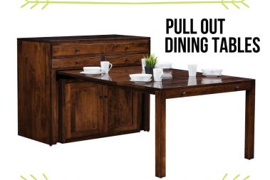 Amish Made Pull Out Dining Tables