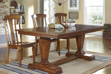 Dining kitchen tables countryside amish furniture trestle tables workwithnaturefo