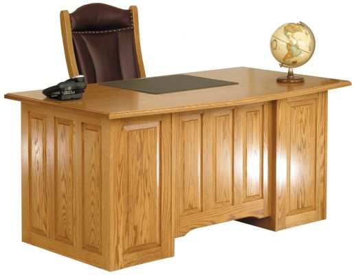 Oak Paneled Executive Desk