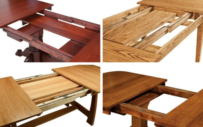 Self Storing Amish Table Leaves - Countryside Amish Furniture