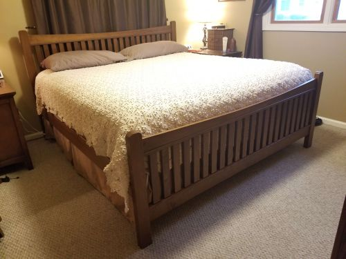 Stain Samples Help Design Perfect Bed