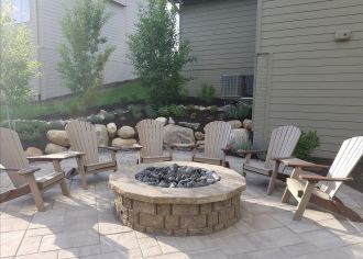 Poly Chairs are Perfect Addition to Fire Pit