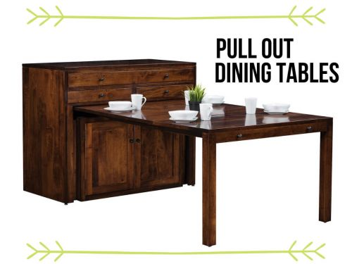 Pull Out Dining Tables Space Saving Tables By Countryside Amish