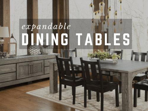 Extendable Dining Tables | Large Dining Tables with Leaves