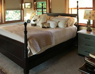 Eclectic Finishes Create Lovely Bedroom Set