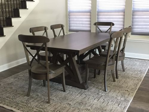 Custom Oak Furniture Stuns in Gray Finish