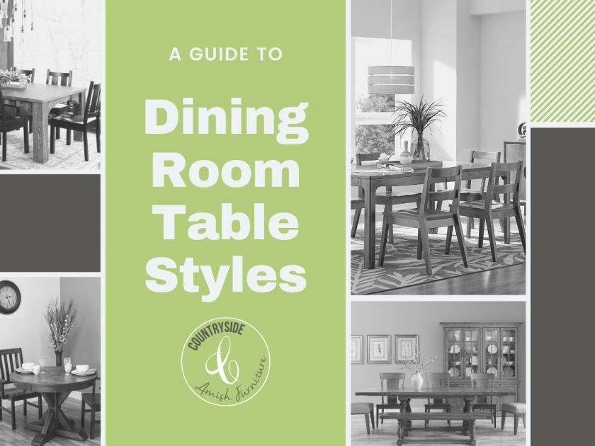 Choosing A Dining Table Style Types Of Tables Countryside - What Is A Tall Kitchen Table Called