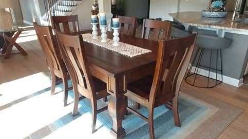 American Made Dining Furniture Fits Beautifully
