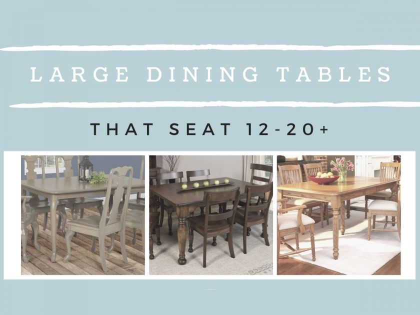 Large Amish Dining Room Tables