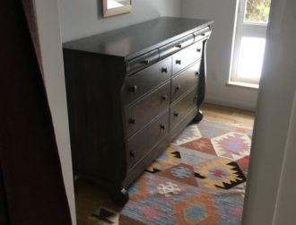 Antique Style Dresser Receives Modern Touch