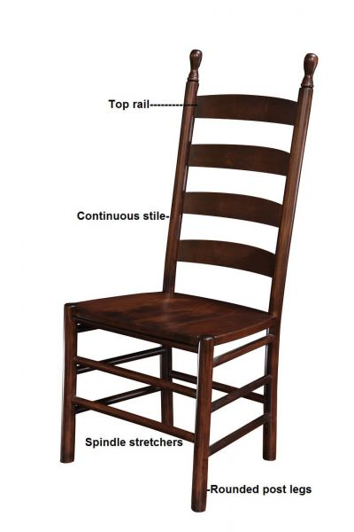 Our Early American Colonist Ladder Back Chair Is A Period Perfect Replica  Of The Common Shaker Ladder Back Chair. These Chairs Are Often Tall And  Narrow And ...
