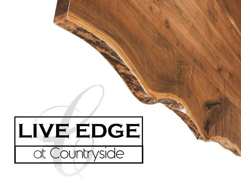 Natural Live Edge Wood Furniture Countryside Amish Furniture