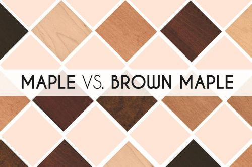Maple vs. Brown Maple Amish Furniture