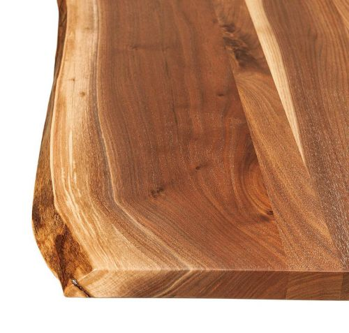 Natural live edge wood furniture countryside amish furniture for Finishing live edge wood