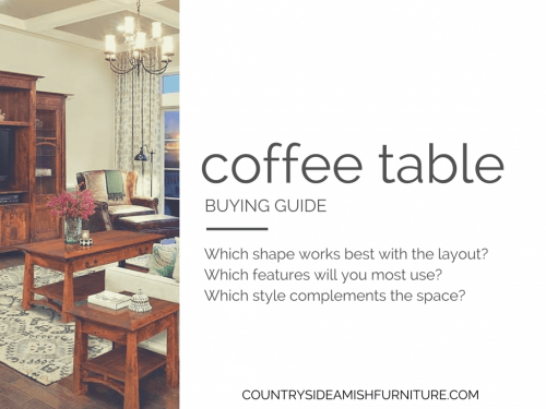 Amish Coffee Table Buying Guide
