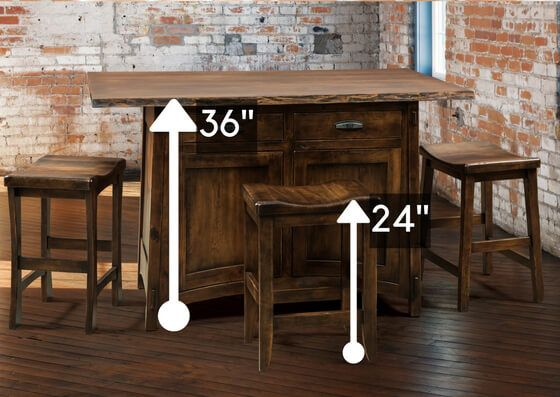 Standard Height Vs Counter Height Vs Bar Height Amish