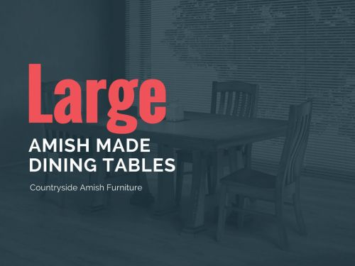 Surprising Amish Large Dining Room Tables Countryside Amish Furniture Beutiful Home Inspiration Cosmmahrainfo
