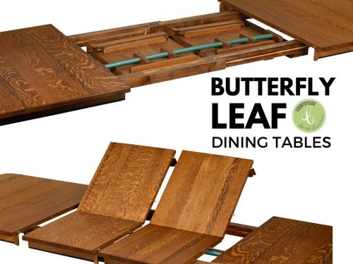 what are butterfly leaf dining tables - countryside amish furniture Butterfly Dining Table