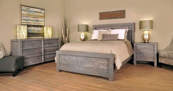 Gray american made bedroom furniture countryside amish furniture for Grey wood bedroom furniture set