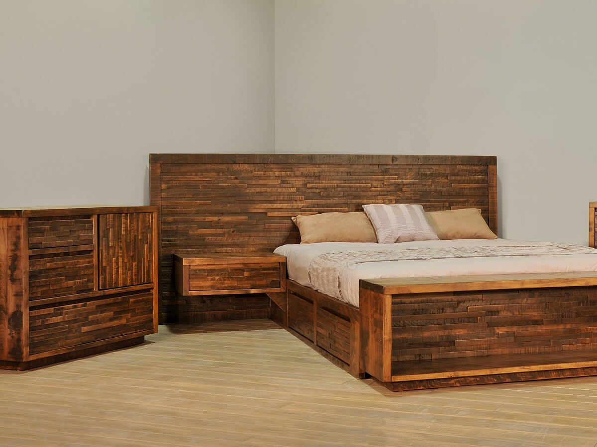 Rough Sawn Maple Bedroom Furniture