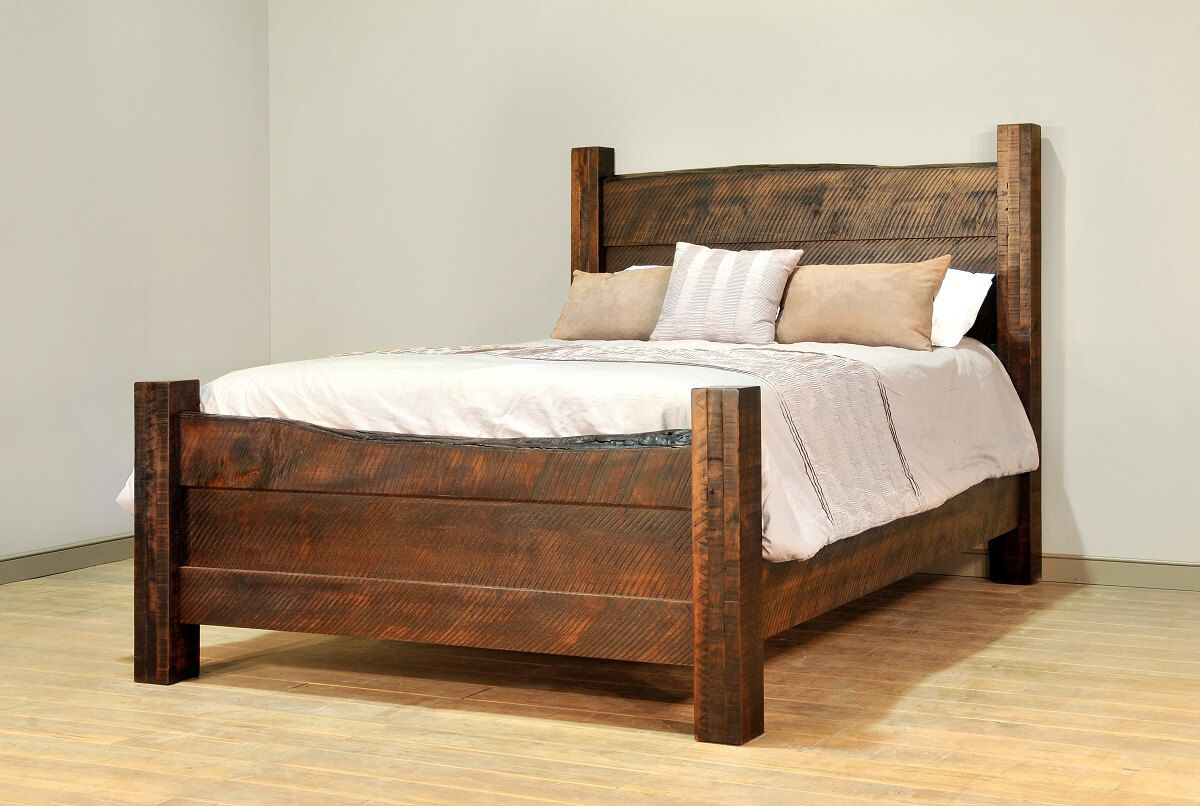 Rough Sawn Bed with Live Edge