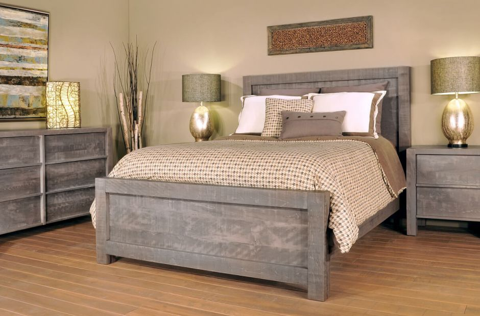 cypress creek grey bedroom set - countryside amish furniture