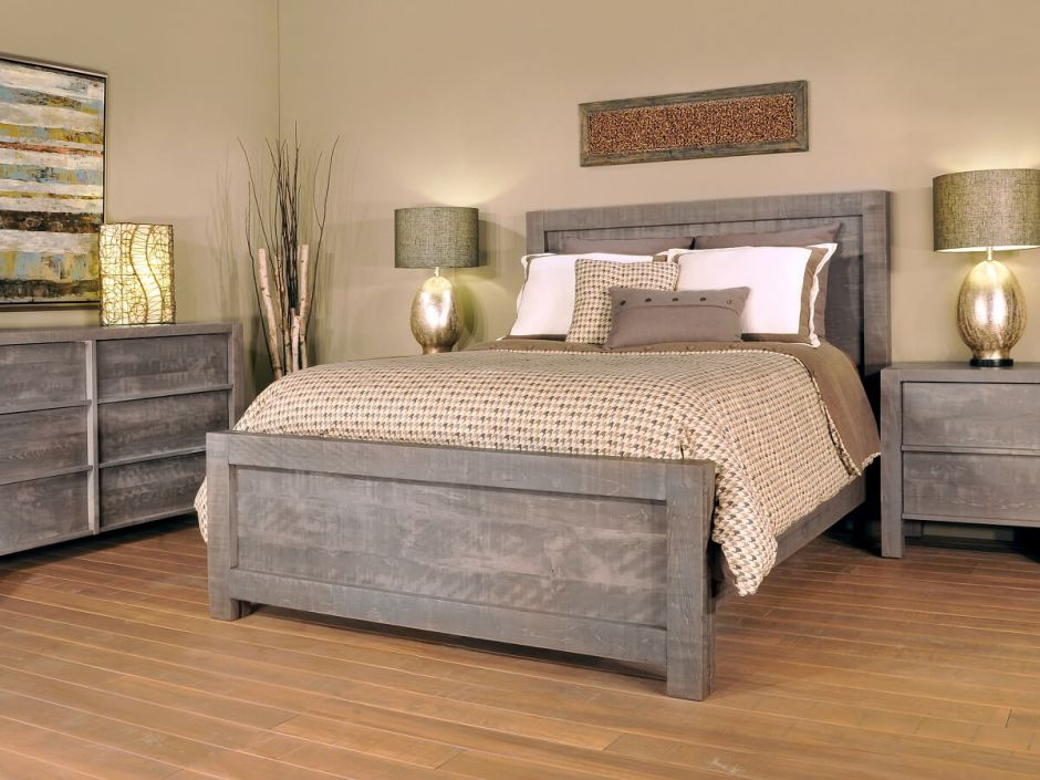 Gray American Made Bedroom Furniture Countryside Amish Furniture