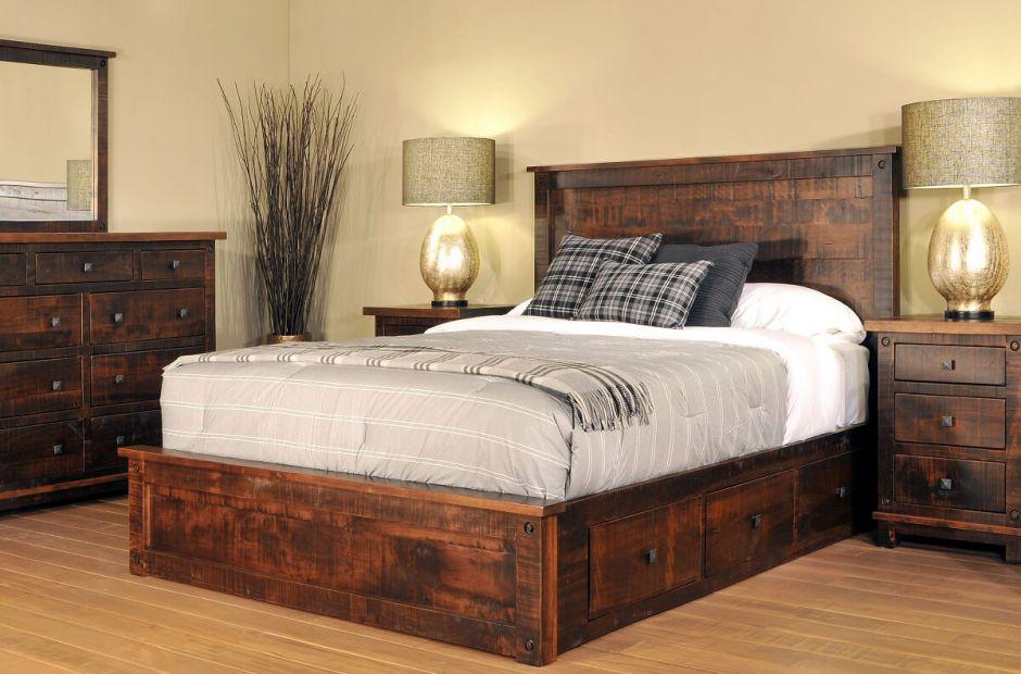 Deep Creek Industrial Bedroom Set Countryside Amish