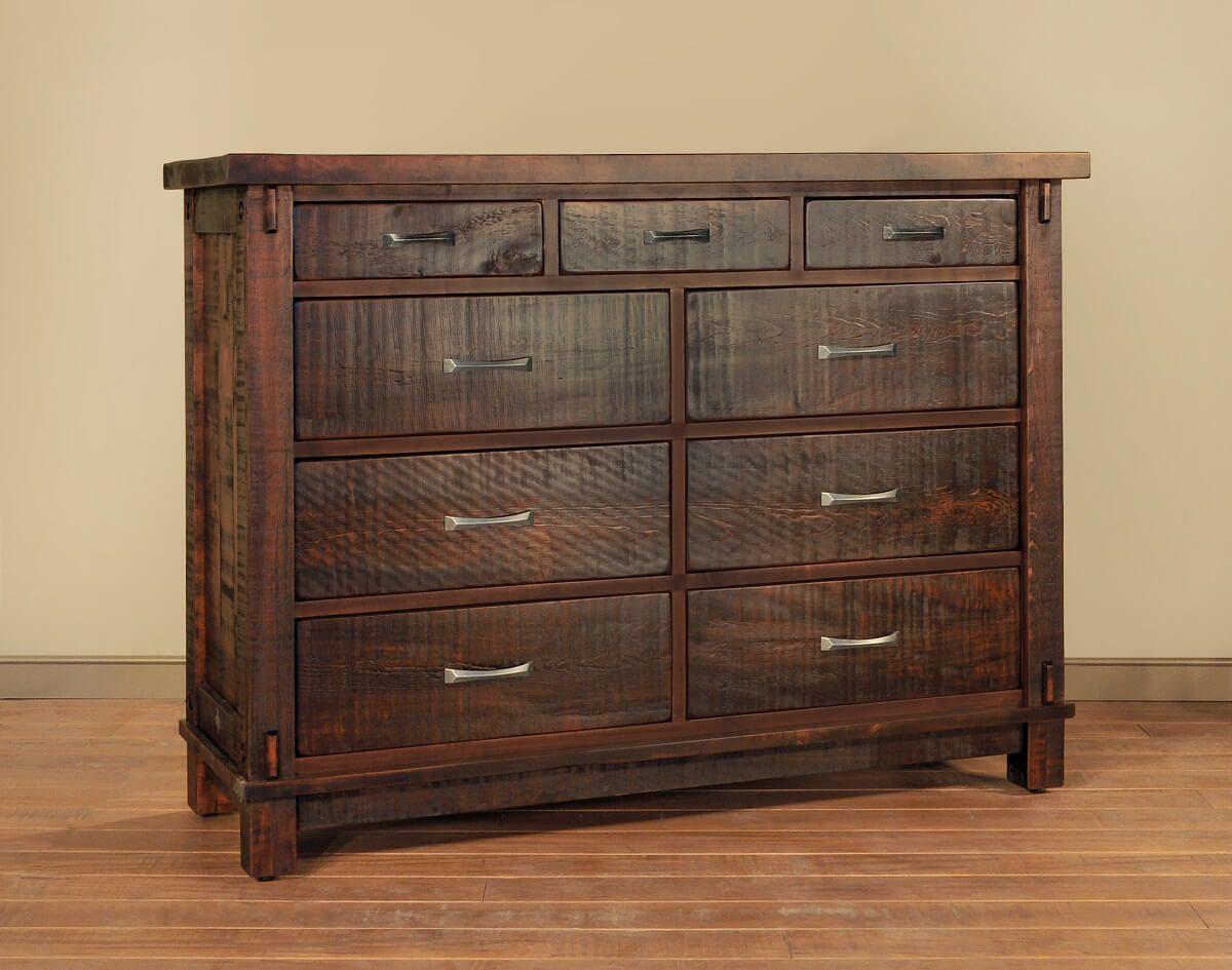 Rough Sawn 9-Drawer Dresser