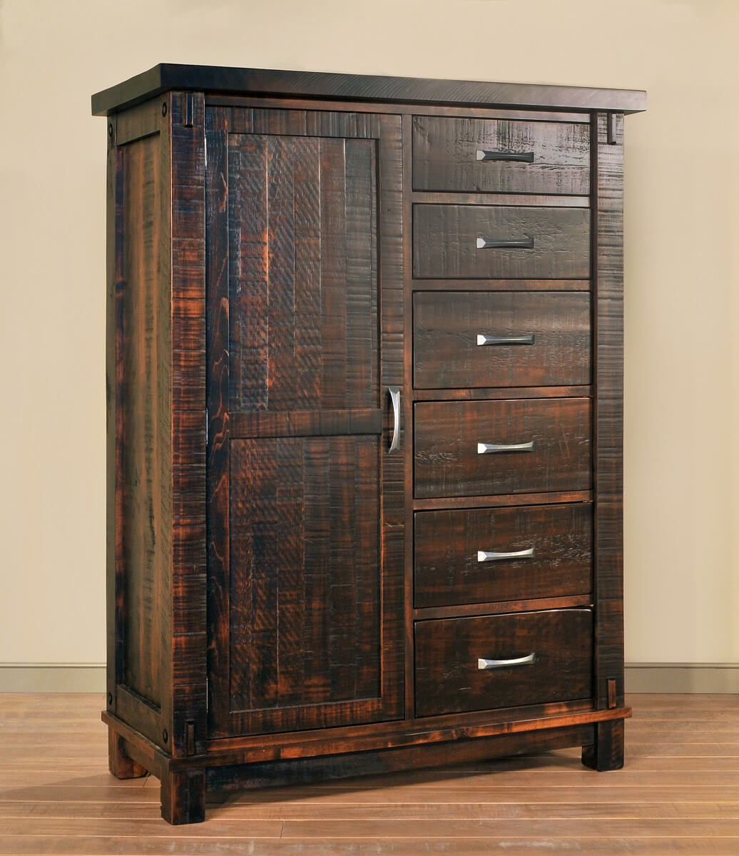 Solid Wood Rustic Armoire