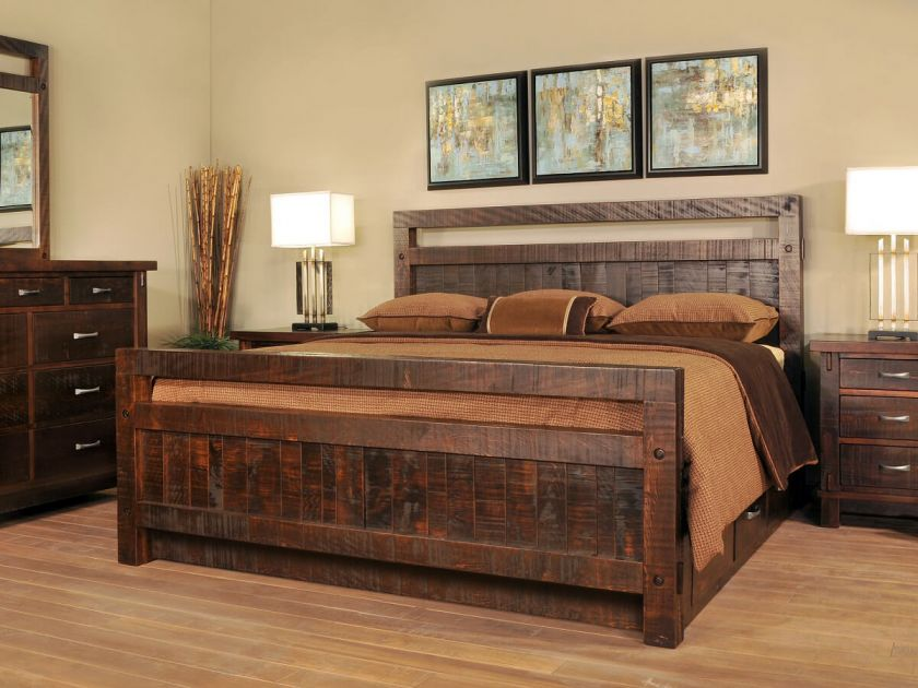 Lakemont Rustic Bedroom Set Countryside Amish Furniture