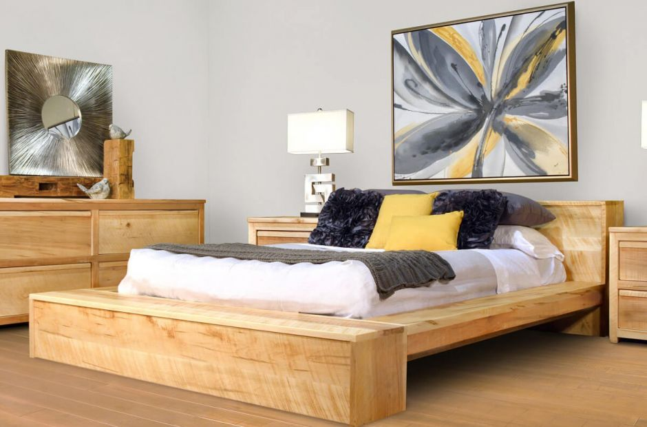 Madera Modern Rustic Bedroom Set Countryside Amish Furniture
