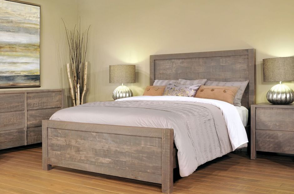 Naomi Rustic Grey Bedroom Set Countryside Amish Furniture