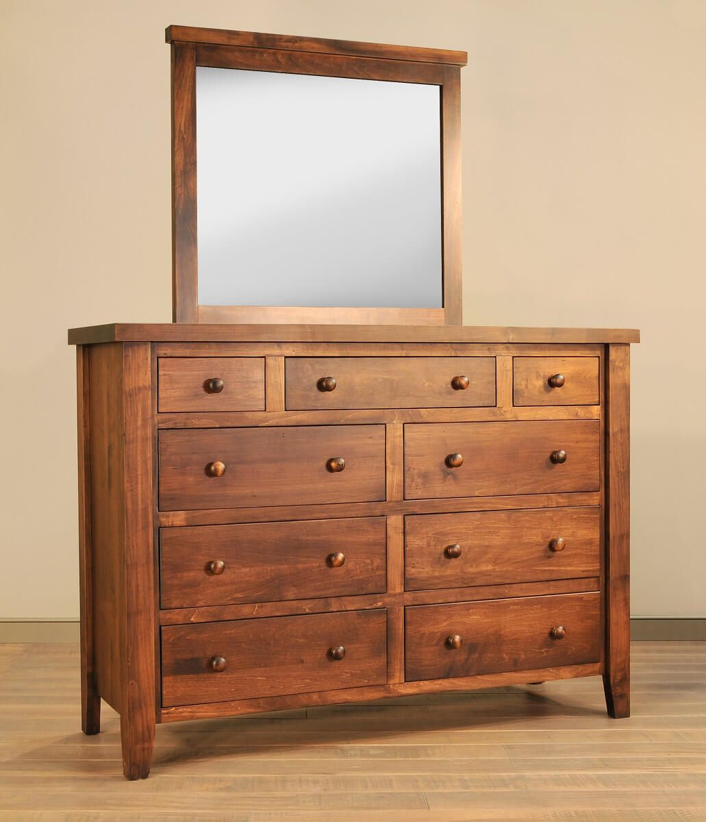 Rustic Dresser and Mirror