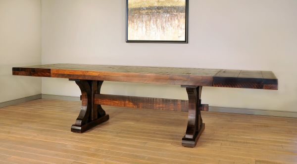 Rustic Table with End Leaves