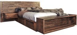 Rough Sawn Bed with Storage