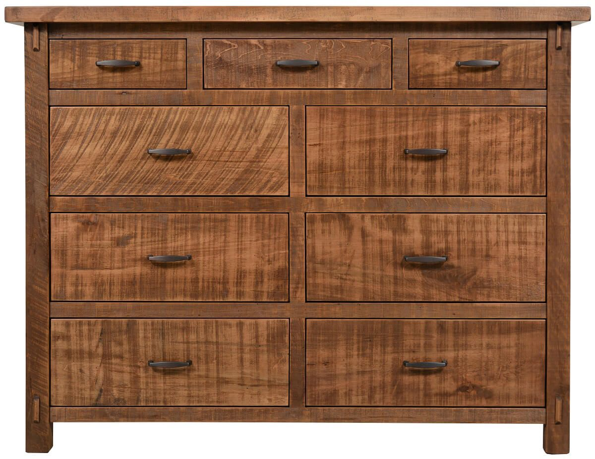 Rustic 9-Drawer Chest