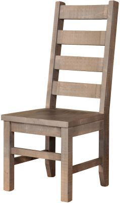 Gray Ladder Back Chair