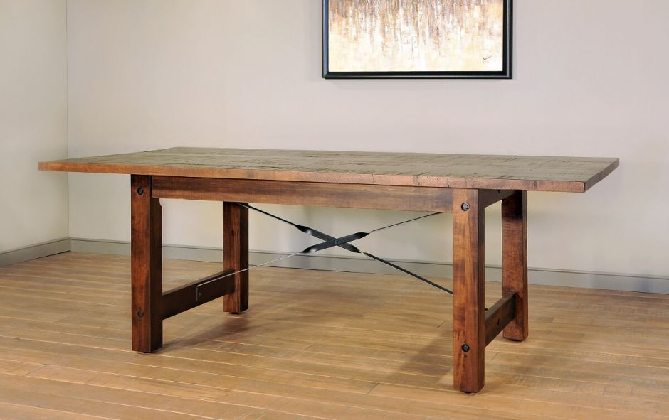 Finger Lakes Table Close Rough Sawn Maple