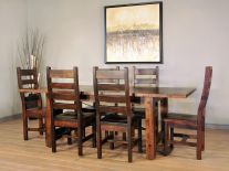 Amish Dining Room Sets Solid Wood Tables Chairs