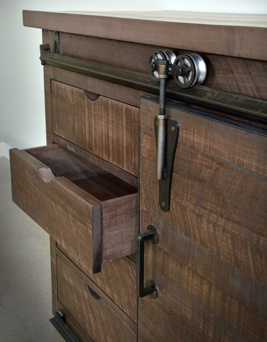 Rough Sawn Barn Door Server