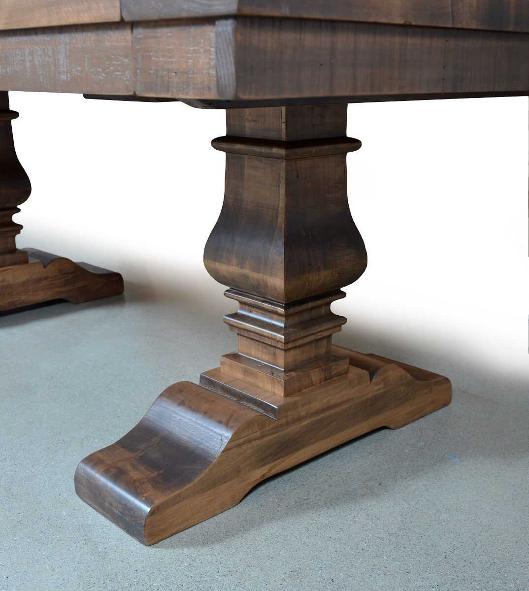 Rough Sawn Maple Pedestal Table
