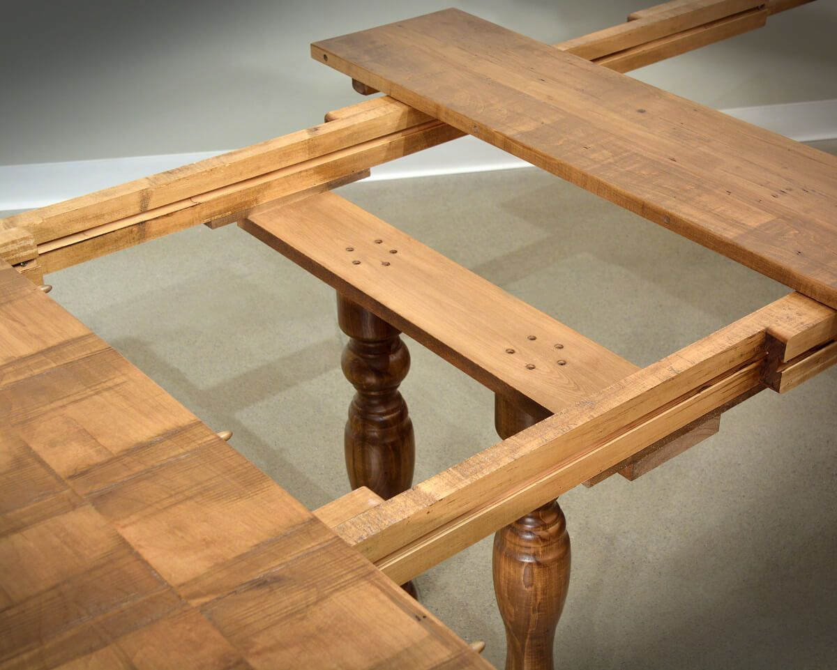 Rough Sawn Dining Table Slides