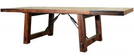 Sawyer Industrial Dining Table with Leaves