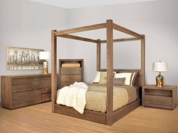 Sturgis Canopy Bed & Contemporary Solid Wood Beds - Countryside Amish Furniture