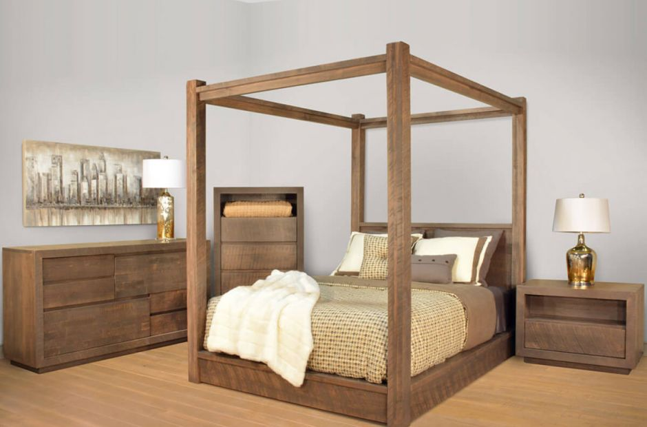 Sturgis Modern Canopy Bedroom Set - Countryside Amish Furniture